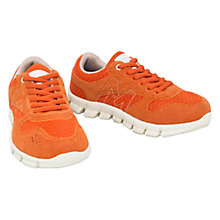 Buy Mango Kids Boys' Pegas Breathable Trainers, Orange Online at johnlewis.com