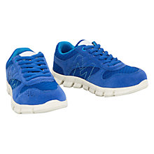 Buy Mango Kids Pegas Breathable Trainers, Blue Online at johnlewis.com