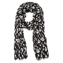 Buy Mango Kids Boys' Skull Print Scarf, Charcoal Online at johnlewis.com