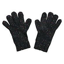 Buy Mango Kids Speckled Knit Gloves, Dark Grey Online at johnlewis.com