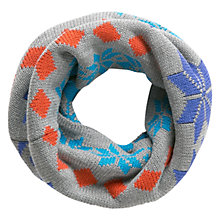 Buy Mango Kids Boys' Geometric Snood, Grey Online at johnlewis.com