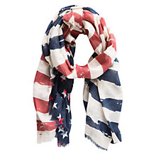 Buy Mango Kids Boys' Flag Print Scarf, Multi Online at johnlewis.com