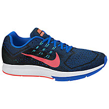 Buy Nike Air Zoom Structure 18 Running Shoes, Hyper Cobalt/Hyper Punch Online at johnlewis.com