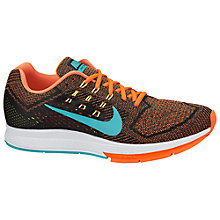 Buy Nike Air Zoom Structure 18 Men's Running Shoes, Hyper Crimson/Hyper Jade Online at johnlewis.com