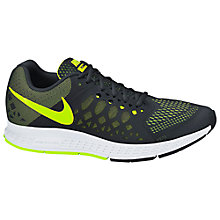 Buy Nike Air Zoom Pegasus 31 Men's Running Shoes, Black/Volt Green Online at johnlewis.com