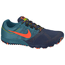 Buy Nike Zoom Wildhorse 2 Men's Running Shoes, Rift Blue/Midnight Navy/Fierce Green Online at johnlewis.com