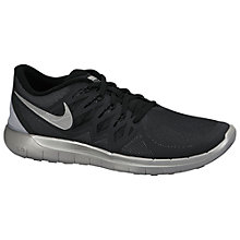 Buy Nike Free 5.0+ Flash Men's Running Shoes, Black/Reflective Silver Online at johnlewis.com