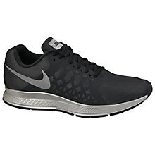 Buy Nike Air Zoom Pegasus 31 Flash Men's Running Shoes, Black/Reflect Silver Online at johnlewis.com