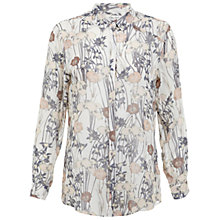 Buy Miss Selfridge Iris Print Shirt, Assorted Online at johnlewis.com