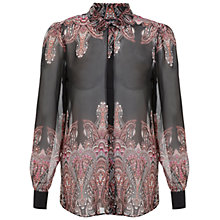 Buy Miss Selfridge Paisley Border Shirt, Assorted Online at johnlewis.com