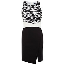 Buy Miss Selfridge Mono Jacquard Pencil Dress, Assorted Online at johnlewis.com