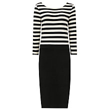 Buy Reiss Bronte Dress, Black/Cream Online at johnlewis.com