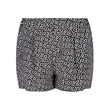 Buy Mango Liberty Print Shorts, Black Online at johnlewis.com