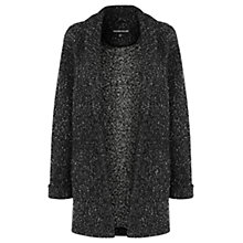 Buy Warehouse Tweed Fleck Coatigan, Black Pattern Online at johnlewis.com