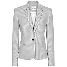 Buy Reiss Sullivan Check Print Blazer, Black/Cream Online at johnlewis.com
