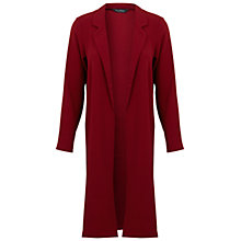 Buy Miss Selfridge Long Duster Jacket, Burgundy Online at johnlewis.com