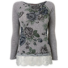 Buy Phase Eight Meg Floral Top, Denim Online at johnlewis.com