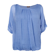 Buy Phase Eight Jenna Silk Blouse Top, Cornflower Online at johnlewis.com