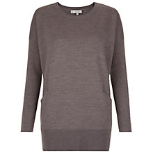Buy Hobbs Gwen Merino Sweatshirt, Mink Online at johnlewis.com