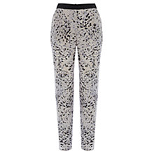 Buy Wishbone Paige Animal Print Silk Trousers, Multi Online at johnlewis.com