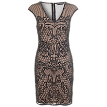 Buy Miss Selfridge Embellished Bodycon Dress, Black Online at johnlewis.com