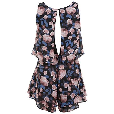 Buy Miss Selfridge Rose Floral Playsuit, Assorted Online at johnlewis.com