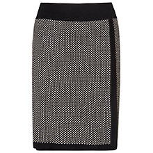 Buy Phase Eight Juliana Jacquard Skirt, Black/Stone Online at johnlewis.com