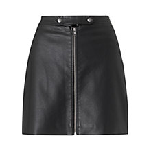 Buy Warehouse Faux Leather Biker Skirt Online at johnlewis.com