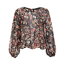Buy Miss Selfridge Winter Floral Blouse, Assorted Online at johnlewis.com