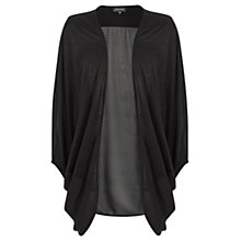 Buy Warehouse Woven Mix Drape Cardigan, Black Online at johnlewis.com