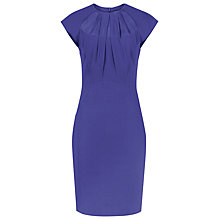 Buy Reiss Lena Pleated Shift Dress, Blue Passion Online at johnlewis.com