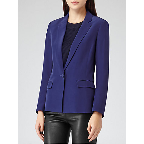 Buy Reiss Parlo Sharply Tailored Blazer, Blue Passion Online at johnlewis.com
