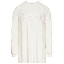 Buy Reiss Isa Cable Knitted Jumper Online at johnlewis.com