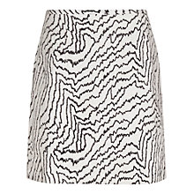 Buy Reiss Salma Jacquard Mini Skirt, Cream/Navy Online at johnlewis.com