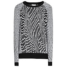 Buy Reiss Lyla Monochrome Print Jumper, Black/White Online at johnlewis.com