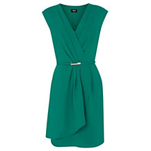 Buy Oasis Crepe Wrap Dress, Mid Green Online at johnlewis.com