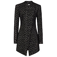 Buy Reiss Cadie Slim Wrap Collar Jacket, Black Online at johnlewis.com