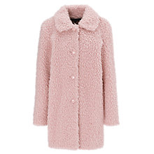 Buy Warehouse Fluffy Teddy Coat, Pink Online at johnlewis.com