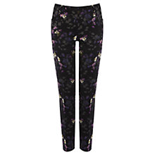 Buy Oasis Shadow Shoots Print Trousers, Multi Black Online at johnlewis.com