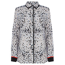 Buy Wishbone Clea Animal Silk Shirt, Multi Grey Online at johnlewis.com