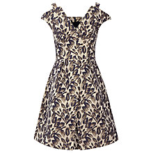 Buy Reiss Marte Textured Floral Print Dress, Navy/Nude Online at johnlewis.com