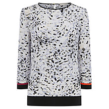 Buy Wishbone Shelia Animal Print Silk Top, Multi Online at johnlewis.com