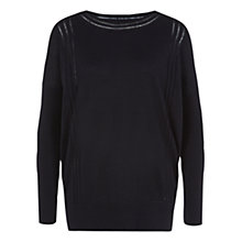Buy Hobbs London Lyra Jumper, Navy Online at johnlewis.com