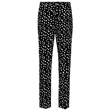 Buy Reiss Olivia Polka Dot Tapered Trousers, Perdita Spot Online at johnlewis.com