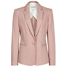 Buy Reiss Luna Tailored Embossed Jacket, Shell Pink Online at johnlewis.com