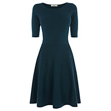 Buy Oasis Ripple Stitch Dress, Teal Green Online at johnlewis.com