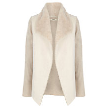 Buy Oasis Faux Shearling Drape Cardigan Online at johnlewis.com