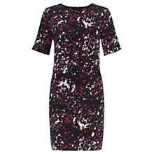 Buy Warehouse Scratchy Texture Dress, Pink Pattern Online at johnlewis.com