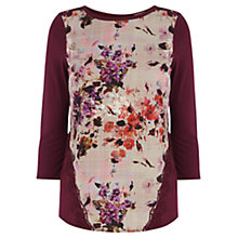 Buy Oasis Scottish Rose Print Woven Front Top, Multi Online at johnlewis.com