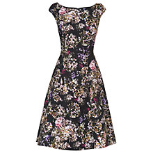 Buy Phase Eight Angela Fit and Flare Dress, Black/Cream Online at johnlewis.com